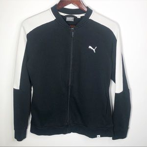Puma Women's Contrast Track Jacket Large Black